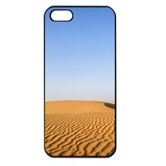 Desert Dunes With Blue Sky Apple Iphone 5 Seamless Case (black)