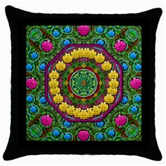 Bohemian Chic In Fantasy Style Throw Pillow Case (black)