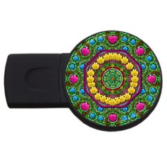 Bohemian Chic In Fantasy Style Usb Flash Drive Round (4 Gb)
