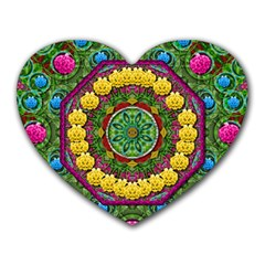 Bohemian Chic In Fantasy Style Heart Mousepads