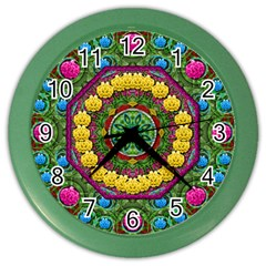 Bohemian Chic In Fantasy Style Color Wall Clocks