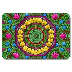 Bohemian Chic In Fantasy Style Large Doormat
