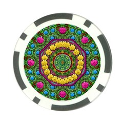 Bohemian Chic In Fantasy Style Poker Chip Card Guard