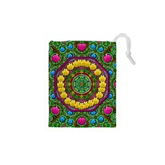 Bohemian Chic In Fantasy Style Drawstring Pouches (xs)