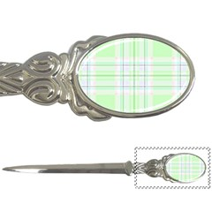 Green Pastel Plaid Letter Openers