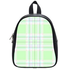 Green Pastel Plaid School Bag (small)