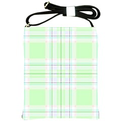 Green Pastel Plaid Shoulder Sling Bags