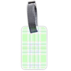 Green Pastel Plaid Luggage Tags (one Side)