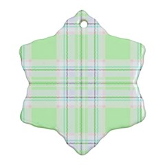 Green Pastel Plaid Ornament (snowflake)