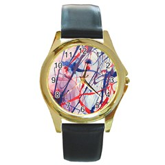 Messy Love Round Gold Metal Watch