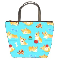 Corgi Pattern Bucket Bags