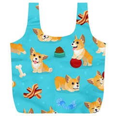 Corgi Pattern Full Print Recycle Bags (l)