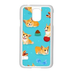 Corgi Pattern Samsung Galaxy S5 Case (white)