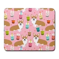 Corgi Bubble Tea Boba Tea Fabric Cute Large Mousepads