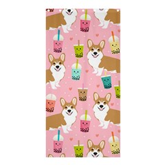 Corgi Bubble Tea Boba Tea Fabric Cute Shower Curtain 36  X 72  (stall)
