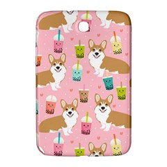 Corgi Bubble Tea Boba Tea Fabric Cute Samsung Galaxy Note 8 0 N5100 Hardshell Case