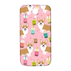 Corgi Bubble Tea Boba Tea Fabric Cute Samsung Galaxy S4 I9500/i9505  Hardshell Back Case