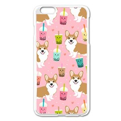 Corgi Bubble Tea Boba Tea Fabric Cute Apple Iphone 6 Plus/6s Plus Enamel White Case