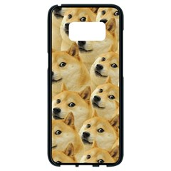 Corgi Dog Samsung Galaxy S8 Black Seamless Case
