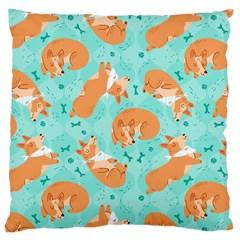 Corgi Dog Pattern Large Cushion Case (two Sides)