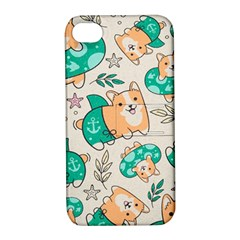 Corgi Beach Party Apple Iphone 4/4s Hardshell Case With Stand