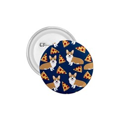 Corgi Pizza Navy Blue Kids Cute Funny 1 75  Buttons
