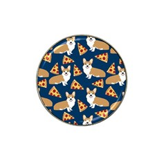 Corgi Pizza Navy Blue Kids Cute Funny Hat Clip Ball Marker (10 Pack)