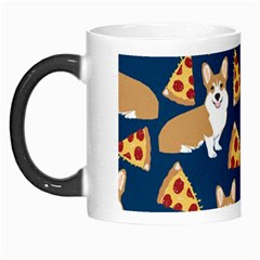Corgi Pizza Navy Blue Kids Cute Funny Morph Mugs