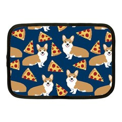 Corgi Pizza Navy Blue Kids Cute Funny Netbook Case (medium)