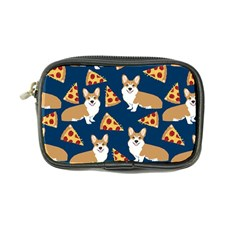 Corgi Pizza Navy Blue Kids Cute Funny Coin Purse