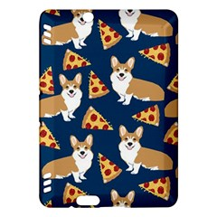 Corgi Pizza Navy Blue Kids Cute Funny Kindle Fire Hdx Hardshell Case