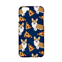 Corgi Pizza Navy Blue Kids Cute Funny Apple Iphone 6/6s Hardshell Case