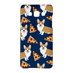 Corgi Pizza Navy Blue Kids Cute Funny Samsung Galaxy A5 Hardshell Case