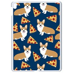 Corgi Pizza Navy Blue Kids Cute Funny Apple Ipad Pro 9 7   White Seamless Case