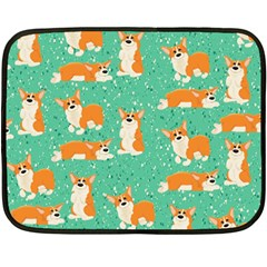 Corgi Dog Wrap Fleece Blanket (mini)