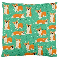 Corgi Dog Wrap Large Cushion Case (two Sides)