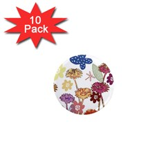 Flowers Butterflies Dragonflies 1  Mini Magnet (10 Pack)