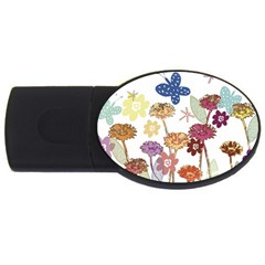 Flowers Butterflies Dragonflies Usb Flash Drive Oval (2 Gb)