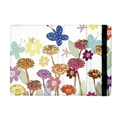 Flowers Butterflies Dragonflies Apple Ipad Mini Flip Case