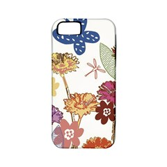 Flowers Butterflies Dragonflies Apple Iphone 5 Classic Hardshell Case (pc+silicone)