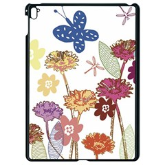 Flowers Butterflies Dragonflies Apple Ipad Pro 9 7   Black Seamless Case