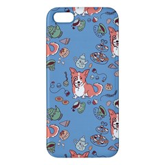 Dog Corgi Pattern Iphone 5s/ Se Premium Hardshell Case