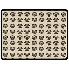 Puppy Dog Pug Pup Graphic Fleece Blanket (large)