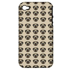 Puppy Dog Pug Pup Graphic Apple Iphone 4/4s Hardshell Case (pc+silicone)