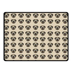 Puppy Dog Pug Pup Graphic Double Sided Fleece Blanket (small)