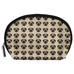Puppy Dog Pug Pup Graphic Accessory Pouches (large)