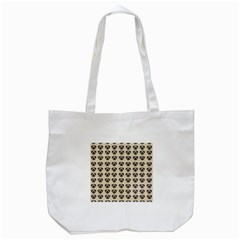 Puppy Dog Pug Pup Graphic Tote Bag (white)