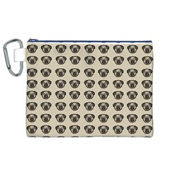 Puppy Dog Pug Pup Graphic Canvas Cosmetic Bag (xl)