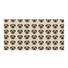 Puppy Dog Pug Pup Graphic Satin Wrap