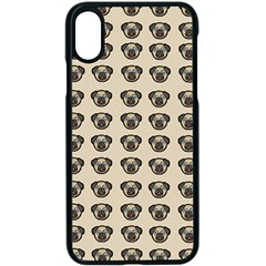 Puppy Dog Pug Pup Graphic Apple Iphone X Seamless Case (black)